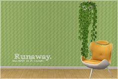 Build - Walls [Poppet] 'Runaway'  (wallpaper in 25 colors)