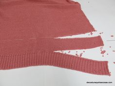 how to shorten a knit sweater