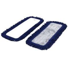 Dust Mop Microfiber Fringed Velcro Backing Floor Care, Pug