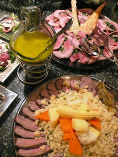 glass serving platters with cold cuts and glass sauce server by glass studo for buffet - Cold Buffet Server
