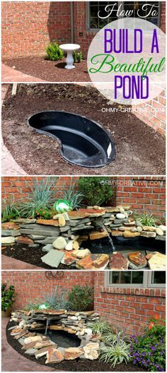 How to Build a Beautiful Pond | OHMY-CREATIVE.COM