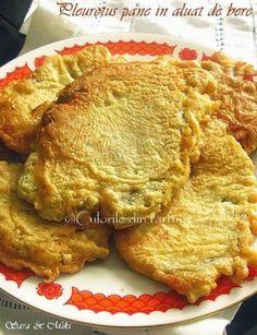 Pleurotus pane in aluat de bere Raw Vegan Recipes, Healthy Recipes, Romanian Food, Romanian Recipes, Fast Food, Tasty, Yummy Food, Fish And Seafood, Soul Food