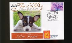 RAT TERRIER 2006 C/I YEAR OF THE DOG STAMP COVER 1