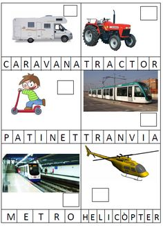 transports3 Bingo, Dual Language, Spanish Class, How To Speak Spanish, My Animal, Captions, Vocabulary, Puzzles, Transportation
