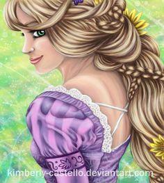 Disney: Rapunzel Portrait by kimberly-castello.deviantart.com on @DeviantArt