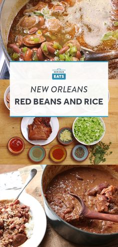 New Orleans–Style Red Beans and Rice - New Orleans–style red beans and rice is mind-bendingly delicious. Smoky, spicy, hearty, and supre - Creole Recipes, Cajun Recipes, Bean Recipes, Rice Recipes, Dinner Recipes, Cooking Recipes, Haitian Recipes, Cajun Food, Cooking Hacks