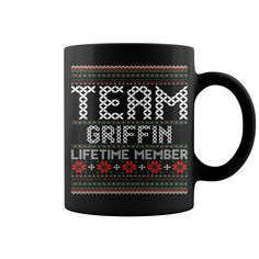 Team Griffin Lifetime Member Ugly Christmas mug
