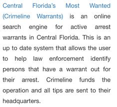 Arrest Warrant Search (arrestwarrantsearch) on Pinterest