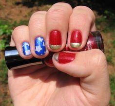 Digit Decor: Wonder Woman Manicure