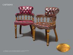Silla de comedor Captains (DC)desde $558 #Silla #chester #chesterfield #ingles #vintage