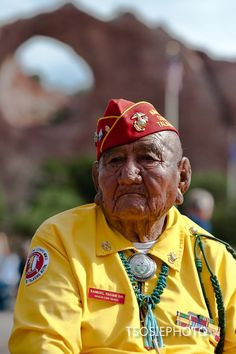 Samuel Tsosie Sr, Navajo Code Talker Usmc 1st Marine Division: Legendary Navajo Code Talkers with the Window Rock in the background... Navajo Code Talkers day is August 14th.