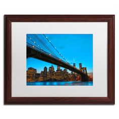 'Brooklyn Bridge 1' by CATeyes Framed Photographic Print