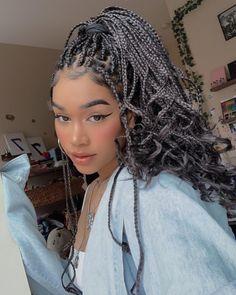 Black Girl Braids, Braided Hairstyles For Black Women, African Braids Hairstyles, Braids For Black Hair, Girls Braids, Protective Hairstyles, Protective Styles, Black Women Braids, Dreadlock Hairstyles