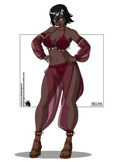 Coloring Commission - Bokuman - - Relha by on DeviantArt Female Character Concept, Fantasy Character Design, Character Design Inspiration, Character Art, Black Anime Characters, Dnd Characters, Fantasy Characters, Female Characters, Black Girl Art