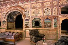 Rajasthan, Sultan Mahal lounge, Samode Palace by David Sanger