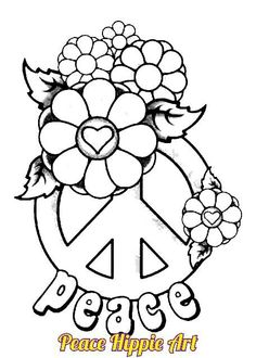 Simple And Attractive Free Printable Peace Sign Coloring Pages Peace Sign Coloring Pages