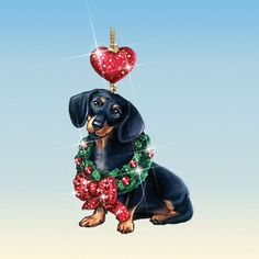 Dachshund Clube / > I need to know where I can get one! Vintage Dachshund, Dachshund Art, Outdoor Christmas Decorations, Christmas Themes, Christmas Ornaments, Weenie Dogs, Doggies, Dog Art, Christmas And New Year