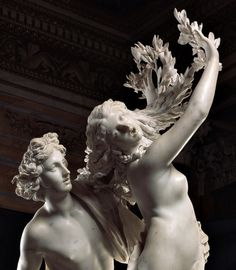 Detail of Apollo and Daphne by Bernini (1622)