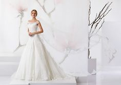 Delicate dress accompanied by white tulle.
