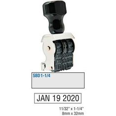 """#Single #Bridge #Date Stamp Size 11/32 x 1-1/4. Come visit us online to check out our Single Bridge Date Stamp Size 11/32"""" x 1-1/4""""! This date stamp allows for text to be added above the date. Order now!"""