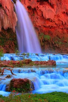 Havasu Falls, Supai, Arizona, United States – Amazing Pictures - Amazing Travel Pictures with Maps for All Around the World Beautiful Waterfalls, Beautiful Landscapes, Grand Canyon National Park, National Parks, Places To Travel, Places To See, Beautiful World, Beautiful Places, Nature Pictures