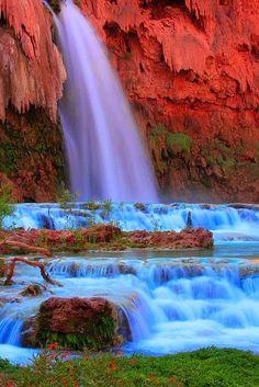 Stunning blue waterfall ~ Dreamy Nature