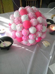 My friend made these cake pops as center pieces yummy :)