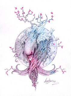 """The Raven"" by Lorena Assisi, via Behance Related Splendid Back of Neck Tattoo DesignsSimple tattoo designs to care for your love stitching on your skin. Kunst Tattoos, Tattoo Drawings, Body Art Tattoos, Art Drawings, Fox Tattoos, Tree Tattoos, Deer Tattoo, Hand Tattoos, Sleeve Tattoos"