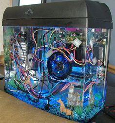 Mineral Oil computer? The fishtank computer great idea!