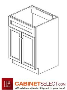 Shop K-Series White Kitchen Cabinets. The line offers solid birch wood and a provides a new color to the existing popular K-series. Kitchen Cabinets On A Budget, Rta Cabinets, White Cabinets, Plywood Shelves, Plywood Boxes, Veneer Door, Wood Veneer, Types Of Cabinets, Desk With Drawers