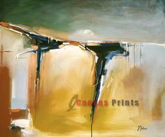"""""""Twin Falls Abstract"""" Limited Edition Giclee Print on Canvas."""