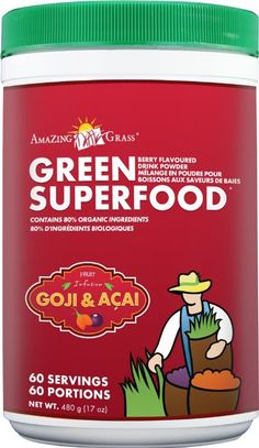 Amazing Grass Berry Flavor Drink Powder-60 Servings, Green SuperFood, 17-Ounce Container: ++++++++++++++++++++