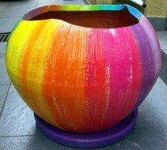 Vaso de cerâmica, pintado à mão | Alem da Rua Atelier