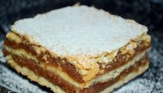 Majestic this simple cake!, Food And Drinks, Mom& shortbread apple. Hungarian Desserts, Hungarian Recipes, Fall Desserts, Just Desserts, Easy Sweets, Czech Recipes, Recipe Filing, Romanian Food, Vintage Recipes