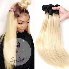 2 Tone Dark Roots Platinum Blonde Brazilian Straight Hair Bundles Price: 39.38 & FREE Shipping #hashtag1 Brazilian Weave, Brazilian Hair, Weave Hairstyles, Straight Hairstyles, Dark Roots, Hair Weft, Platinum Blonde, Fashion Sewing, Remy Hair