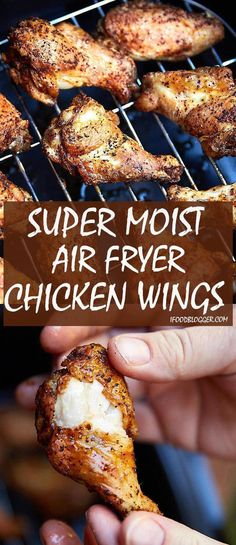 air fryer recipes: These air fryer chicken wings are extra crispy on . Air Fryer Recipes Potatoes, Air Fryer Recipes Snacks, Air Fryer Recipes Breakfast, Air Frier Recipes, Air Fryer Dinner Recipes, Air Fryer Recipes Wings, Air Fryer Wings, Air Fryer Chicken Wings, Actifry Chicken Wings