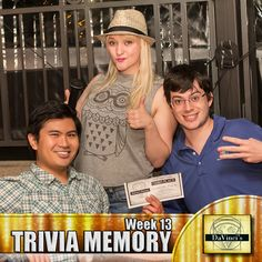 Coming in 3rd place is a good thing.  Join us at our Midtown location Monday's 8pm. Sign up http://davincisdelivers.com/trivia-signup/