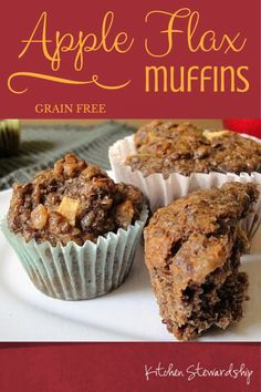Grain free muffin recipe that you won't need any fancy ingredients to make. Flax is the star player, making the muffins gluten free - and delicious - as well.