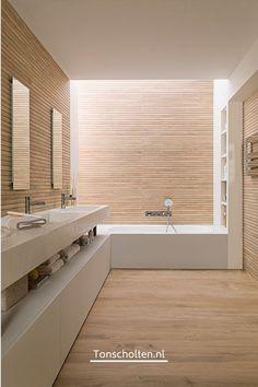 Wood Look Tile Bathroom, Wood Wall Tiles, Wood Look Tile Floor, Room Tiles, Bathroom Wall, Wood Walls, Porcelain Wood Tile, Maple Floors, Modern Bathroom Lighting
