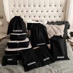 Bag Organization, Organizing Bags, Best Travel Bags, Travel Tips, Travel Stuff, Packing Cubes, Garment Bags, One Bag, Printed Bags