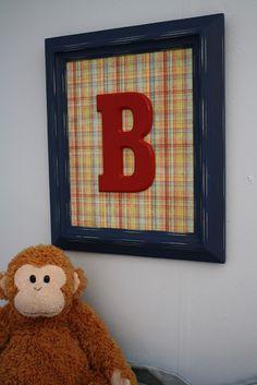 framed wooden letter art