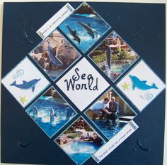Sea World - Scrapbook.com scrapbook page layout