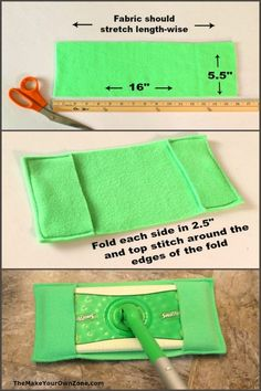 Make your own reusable swiffer cover with this easy sew method using fleece fabric. A great homemade solution! Make your own reusable swiffer cover with this easy sew method using fleece fabric. A great homemade solution! Sewing Hacks, Sewing Tutorials, Sewing Crafts, Sewing Tips, Sewing Ideas, Dress Tutorials, Sewing Basics, Sewing Patterns Free, Free Sewing
