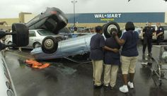 THIS IS A SERIOUS RESULT OF A TORNADO IN THE WALMART PARKING LOT IN BEAUMONT TEXAS. I ORIGINALLY MADE FUN OF THIS AND I APOLOGIZE TO ALL INVOLVED AND MY FOLLOWERS...!FOLLOW THIS BOARD FOR GREAT PINS OF ALL THE WALMART CRAZIES, WIERDO'S AND JUST REGULAR WALMART SHOPPERS( :-o )