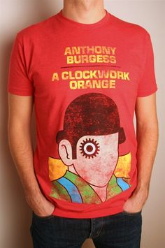 Out of Print A Clockwork Orange t-shirt. OoP prints a variety of classic book covers onto shirts. $28