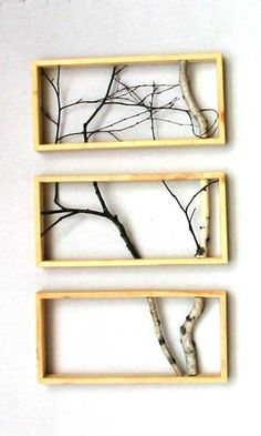 wood frame + reclaimed birch. Pretty neat idea that you could apply to other things as well