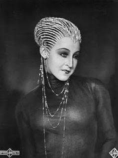 Brigitte Helm in costume for Metropolis, 1927