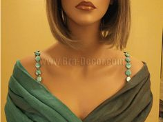 well, this is a great idea...              Sexy Turquoise Acrylic Beads Bra Straps Item # 1004