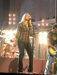 Miranda Lambert rehearses for the 41st annual CMA Awards in Nashville on Nov. 5, 2007.