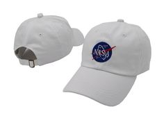 b3976080 Men's / Women's Kennedy Space Center NASA Insignia Embroidered Meatball Hat  - White Nasa Store,